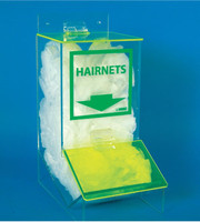 ACRYLIC, HAIRNET DISPENSER WITH COVER