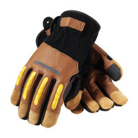PIP Maximum Safety Reinforced Goatskin Leather Palm Glove with Leather Back, Kevlar® Lining and TPR Molded Knuckle Guards - 120-4100