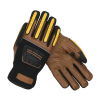 PIP Maximum Safety Reinforced Goatskin Leather Palm Glove with Leather Back, Kevlar® Lining and TPR Molded Knuckle and Dorsal Guards - 120-4150