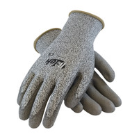PIP G-Tek Seamless Knit PolyKor Blended Glove with Polyurethane Coated Smooth Grip on Palm & Fingers - 16-530