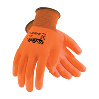 PIP G-Tek Hi-Vis Seamless Knit Polyester Glove with Polyurethane Coated Smooth Grip on Palm & Fingers - 33-425OR