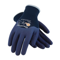 PIP ATG Ultra Light Weight Seamless Knit Nylon Glove with Nitrile Coated MicroFoam Grip on Palm, Fingers & Knuckles - Micro Dot Palm - 34-245