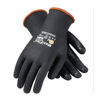 PIP ATG Seamless Knit Nylon / Lycra Glove with Nitrile Coated MicroFoam Grip on Full Hand - Micro Dot Palm - 34-8745