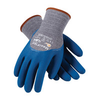 PIP ATG Seamless Knit Cotton / Nylon / Lycra Glove with Nitrile Coated MicroFoam Grip on Palm, Fingers & Knuckles - 34-9025