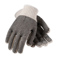 PIP PIP® Seamless Knit Cotton / Polyester Glove with Double-Sided PVC Dot Grip - Regular Weight - 36-112PDD