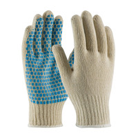 PIP PIP® Seamless Knit Cotton / Polyester Glove with PVC Brick Pattern Grip - 7 Gauge - 37-C110B