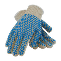 PIP PIP® Seamless Knit Cotton / Polyester Glove with Double-Sided PVC Brick Pattern Grip - 7 Gauge - 37-C110BB
