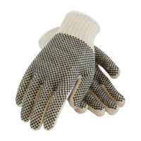 PIP PIP® Seamless Knit Cotton / Polyester Glove with Double-Sided PVC Dense Dot Grip - 7 Gauge - 37-C112PDD