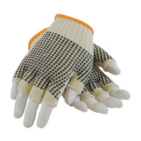 PIP PIP® Seamless Knit Cotton / Polyester Glove with Double-Sided PVC Dot Grip - Half-Finger - 37-C119PDD