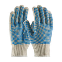 PIP PIP® Seamless Knit Cotton / Polyester Glove with Double-Sided PVC Dense Dot Grip - 7 Gauge - 37-C512PDD-BL