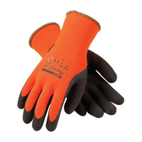 PIP PowerGrab™ Thermo Hi-Vis Seamless Knit Acrylic Terry Glove with Latex MicroFinish Grip on Palm & Fingers - 41-1400
