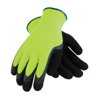 PIP PIP® Hi-Vis Seamless Knit Acrylic Terry Glove with Latex MicroFinish Grip on Palm & Fingers - 41-1420