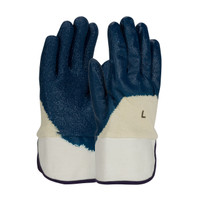 PIP ArmorGrip® Nitrile Dipped Glove with Terry Cloth Liner and Heavy Weight Rough Grip on Palm, Fingers & Knuckles -  Plasticized Safety Cuff - 56-3145