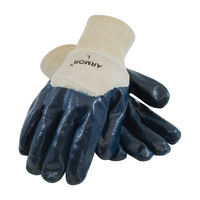 PIP ArmorTuff® Nitrile Dipped Glove with Jersey Liner and Smooth Finish on Palm, Fingers & Knuckles - Knitwrist - 56-3151