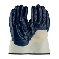 PIP ArmorTuff® Nitrile Dipped Glove with Jersey Liner and Smooth Finish on Palm, Fingers & Knuckles - Plasticized Safety Cuff - 56-3153