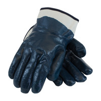 PIP ArmorTuff® Nitrile Dipped Glove with Jersey Liner and Smooth Finish on Full Hand - Plasticized Safety Cuff - 56-3154