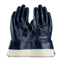 PIP ArmorLite® Nitrile Dipped Glove with Interlock Liner and Textured Finish on Full Hand - Plasticized Safety Cuff - 56-3176
