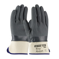 PIP ActivGrip™ Nitrile Coated Glove with Cotton Liner and MicroFinish Grip - Safety Cuff  - 56-AG588