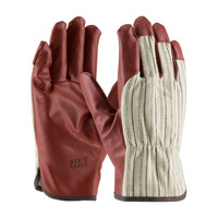 PIP Excalibur® Nitrile Coated Cotton Glove with Striped Fabric Back - Drivers Style - 60-3140