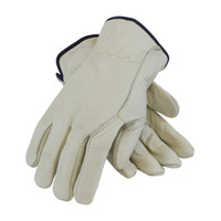 PIP PIP® Superior Grade Top Grain Cowhide Leather Drivers Glove with  Kevlar® Stitching - Wing Thumb - 68-116
