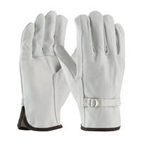 PIP PIP® Regular Grade Top Grain Cowhide Leather Drivers Glove with Pull Strap Closure - Straight Thumb - 68-153