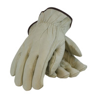 PIP PIP® Economy Grade Top Grain Cowhide Leather Drivers Glove - Keystone Thumb - 68-162