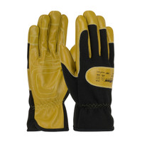 PIP Maximum Safety AR/FR Goatskin Leather Palm Drivers Glove with Aramid Fabric Back and Kevlar® Lining - 73-1700