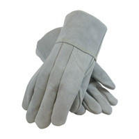 PIP  Heavy Side Split Cowhide Foundry Glove with Thick Wool Lining and Kevlar® Stitching - Leather Gauntlet Cuff  - 74-SC7104