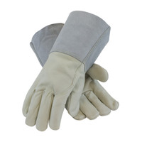 PIP  Top Grain Cowhide Leather Mig Tig Welder's  Glove with Kevlar® Stitching - Leather Gauntlet Cuff - 75-2026