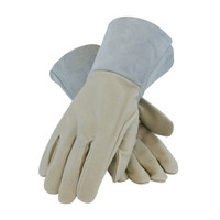 PIP  Top Grain Pigskin Leather Mig Tig Welder's  Glove with Kevlar® Stitching - Split Leather Gauntlet Cuff - 75-320