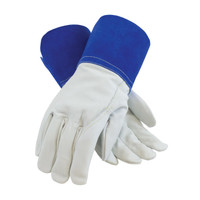 PIP  Top Grain Goatskin Leather Mig Tig Welder's  Glove with Kevlar® Stitching - Leather Slip-On Cuff - 75-4854
