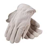 PIP  Premium Grade Split Cowhide Leather Glove with Fleece Pile Lining - Keystone Thumb - 77-289