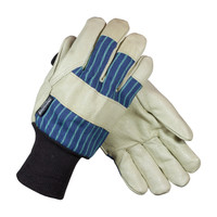 PIP  Pigskin Leather Palm Glove with Fabric Back & 3M™ Thinsulate™ Lining - Knitwrist - 78-3927KW