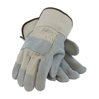 PIP  Heavy Side Split Cowhide Leather Palm Glove with Canvas Back and Kevlar® Stitching - Rubberized Safety Cuff - 80-8800