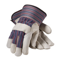 PIP  Regular Grade Top Grain Cowhide Leather Palm Glove with Fabric Back - Safety Cuff - 87-1563