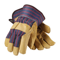 PIP PIP® Premium Grade Top Grain Pigskin Leather Palm Glove with Fabric Back - Safety Cuff - 87-3563