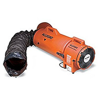 "Allegro 8"" Plastic Explosion-Proof COM-PAX-IAL Blower w/ Canister & 25' Ducting - 9538-25"