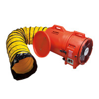 "Allegro 12"" Plastic COM-PAX-IAL Blower w/ Canister & 25' Ducting - 9543-25"