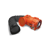 "Allegro 12"" Plastic Explosion-Proof COM-PAX-IAL Blower w/ Canister & 25' Ducting - 9548-25"