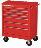 "27"" 5 Drawer TEP Series Red Roller Cabinet - 83123RD"