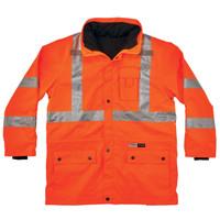 Ergodyne GloWear 8385 Orange Type R Class 3 4-in-1 Jacket
