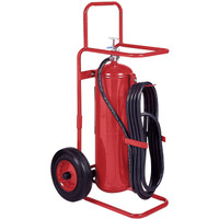 Badger™ 50 lb Wheeled Stored Pressure Purple K Extinguisher, 25' Hose - 20180B