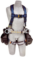 3M DBI-SALA  ExoFit Construction Style Harness with Tool Pouches 1108517 Medium