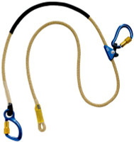 3M DBI-SALA  Pole Climber's Adjustable Rope Positioning Lanyard - For Electrical/Hot Work Use 1234083, Yellow, 8 ft. (2.4m)