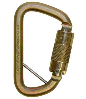 3M DBI-SALA  Rollgliss Technical Rescue Offset D Fall Arrest Carabiner with Captive Eye 2000117, Gold Medium