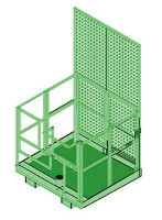 3M DBI-SALA  Advanced Forklift Basket Davit Base 8510568