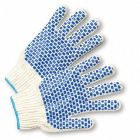 Standard Blue Block Coated Ladies Gloves- Dozen