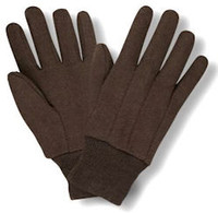 Brown Jersey Gloves - 12/PR