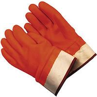 PVC Orange Coated Safety Cuff Glove- Pair
