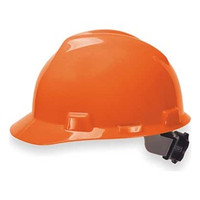 MSA V-Gard Orange Ratchet Hard Hat - 475361